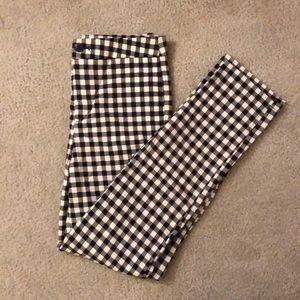 Checkered Skinny Leggings
